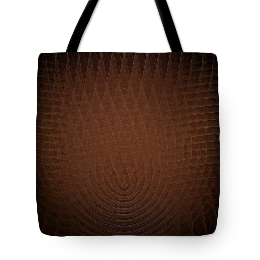 Abstract Tote Bag featuring the painting Orange Fractal Background by Bruce Nutting