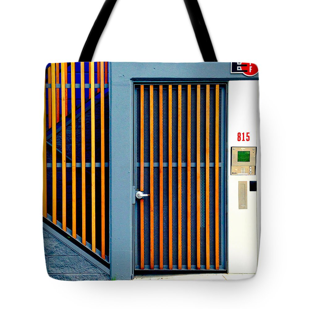 #door #gate Tote Bag featuring the photograph Orange Gate by Julie Gebhardt