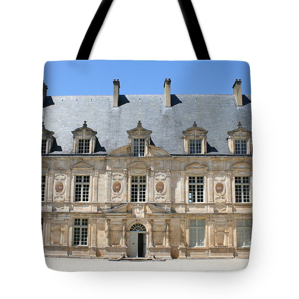 Palace.old Building Tote Bag featuring the photograph Palace Bussy Rabutin - Burgundy by Christiane Schulze Art And Photography