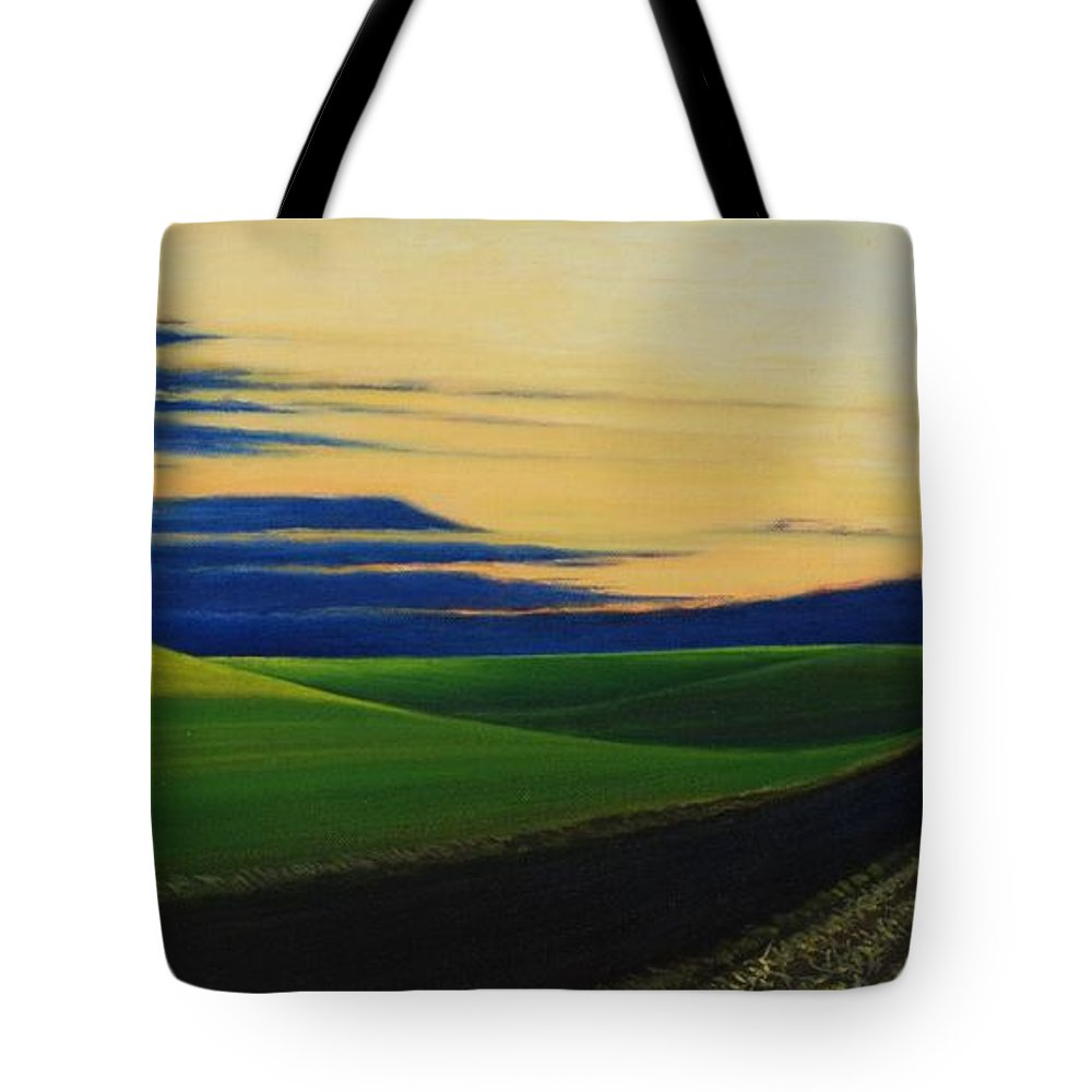 Landscape Tote Bag featuring the painting Palouse Drive by Leonard Heid