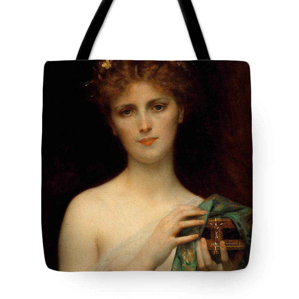 6b4fba13dec2 Pandora Tote Bag featuring the painting Pandora by Alexandre Cabanel