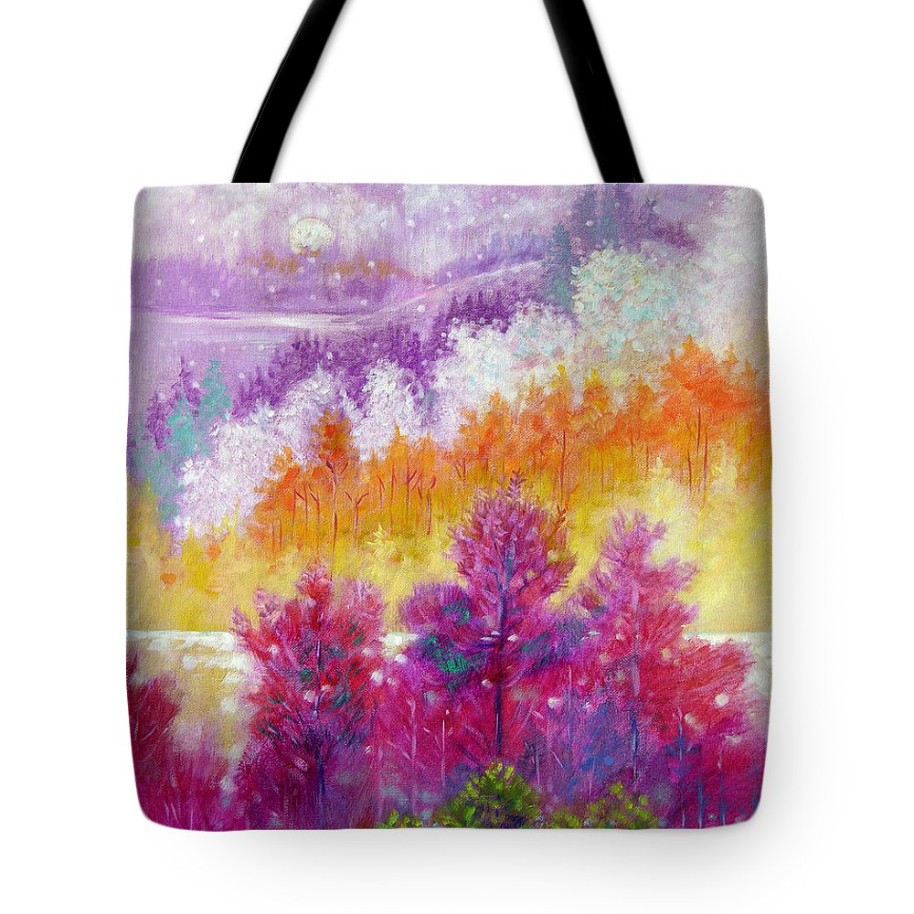 Autumn Tote Bag featuring the painting Passing Seasons by John Lautermilch
