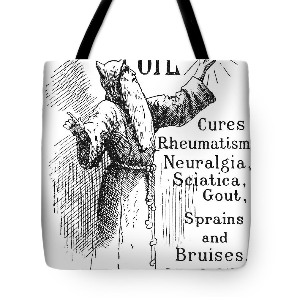 1894 Tote Bag featuring the photograph Patent Medicine, 1894 by Granger