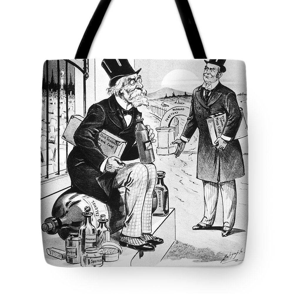 1898 Tote Bag featuring the photograph Patent Medicine Cartoon by Granger