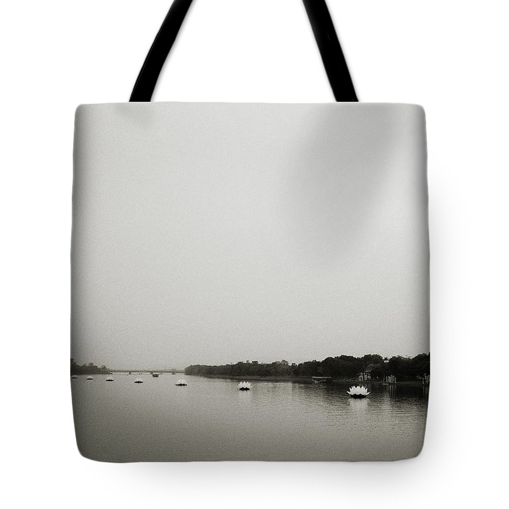 Asia Tote Bag featuring the photograph Perfume River Hue by Shaun Higson