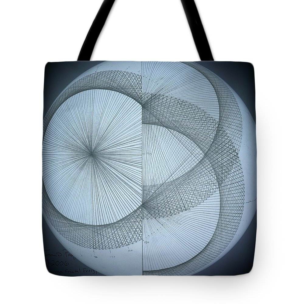 Photon Tote Bag featuring the drawing Photon Double Slit Test by Jason Padgett