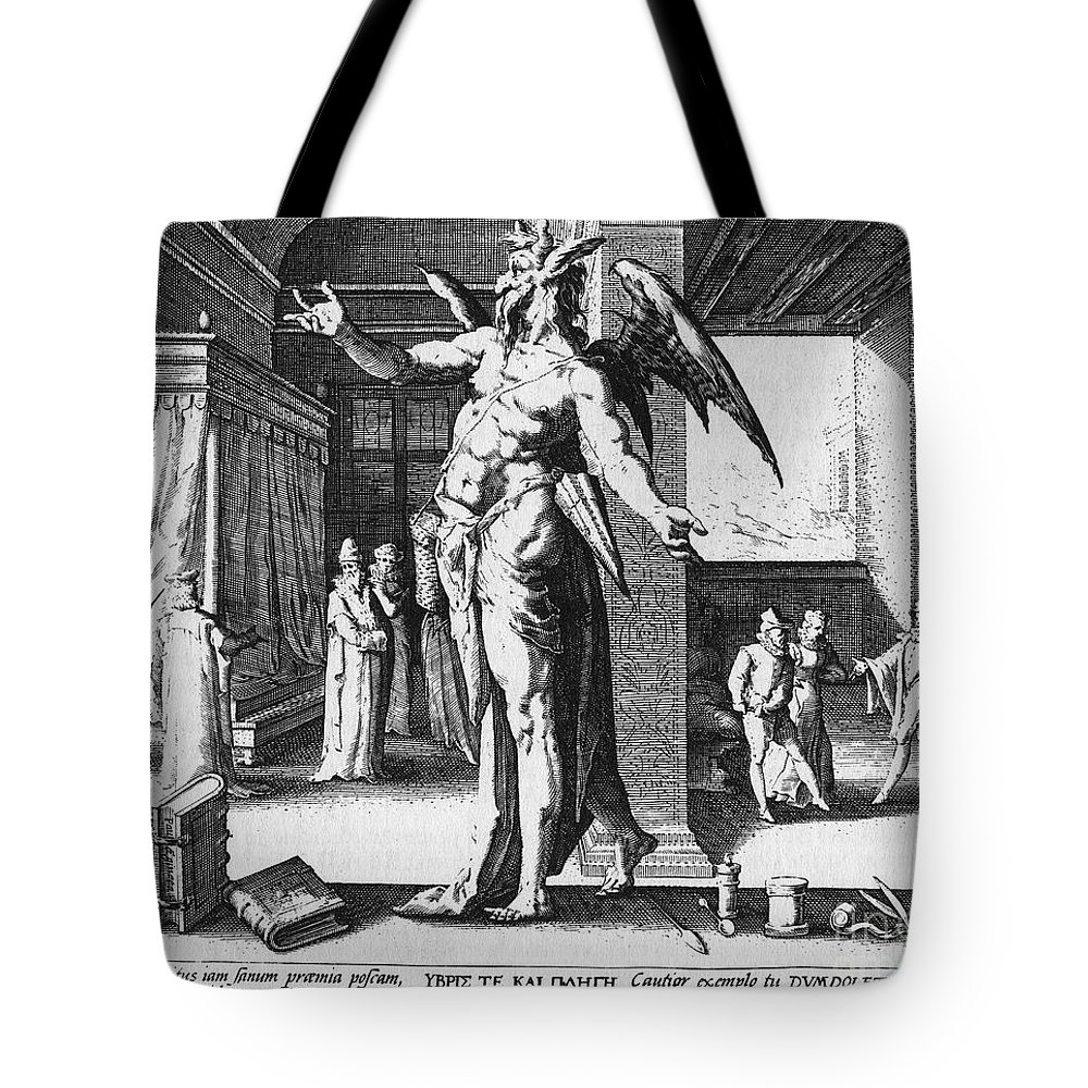 1587 Tote Bag featuring the photograph Physician As Devil by Granger