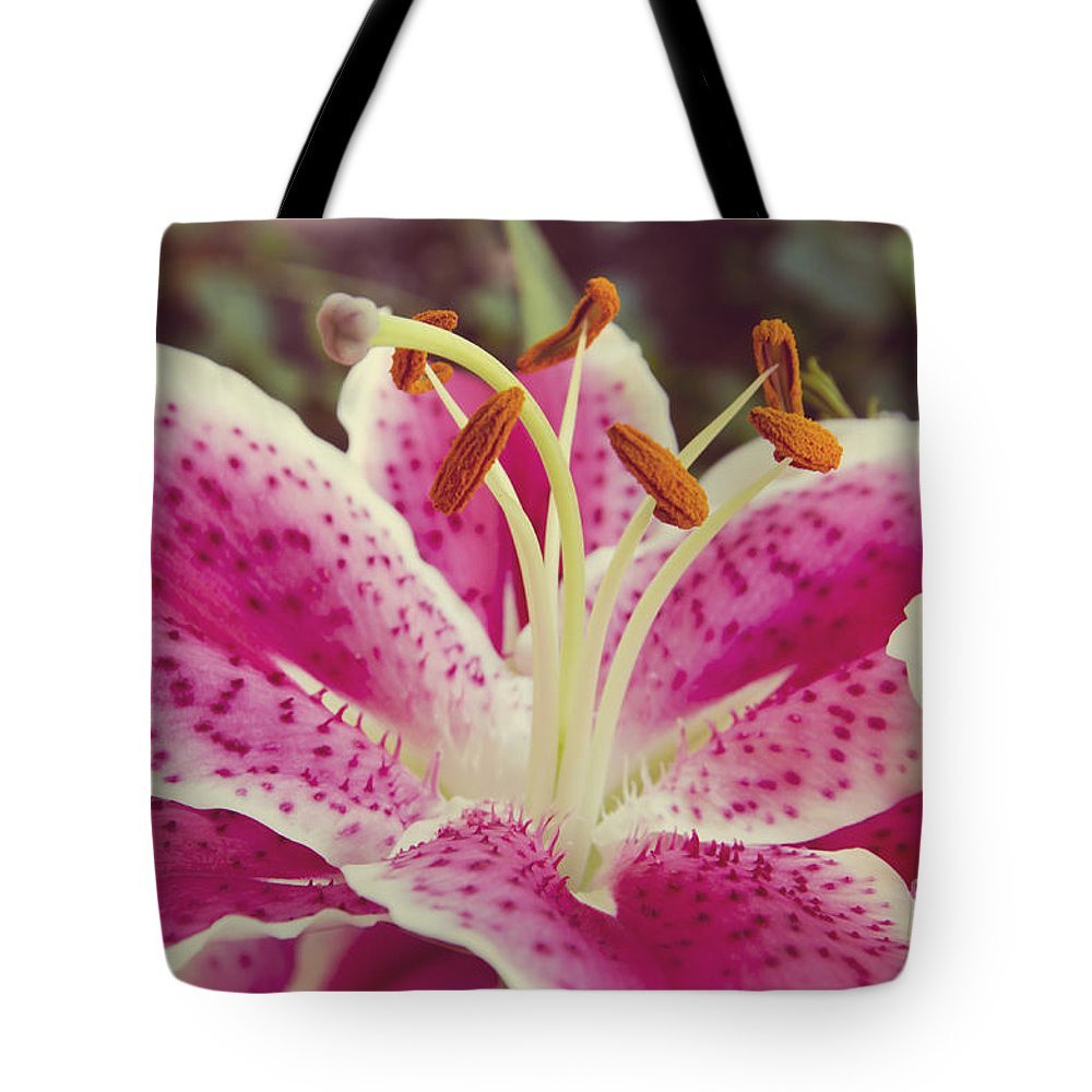 Daylily Tote Bag featuring the photograph Pink Daylily by Jim And Emily Bush