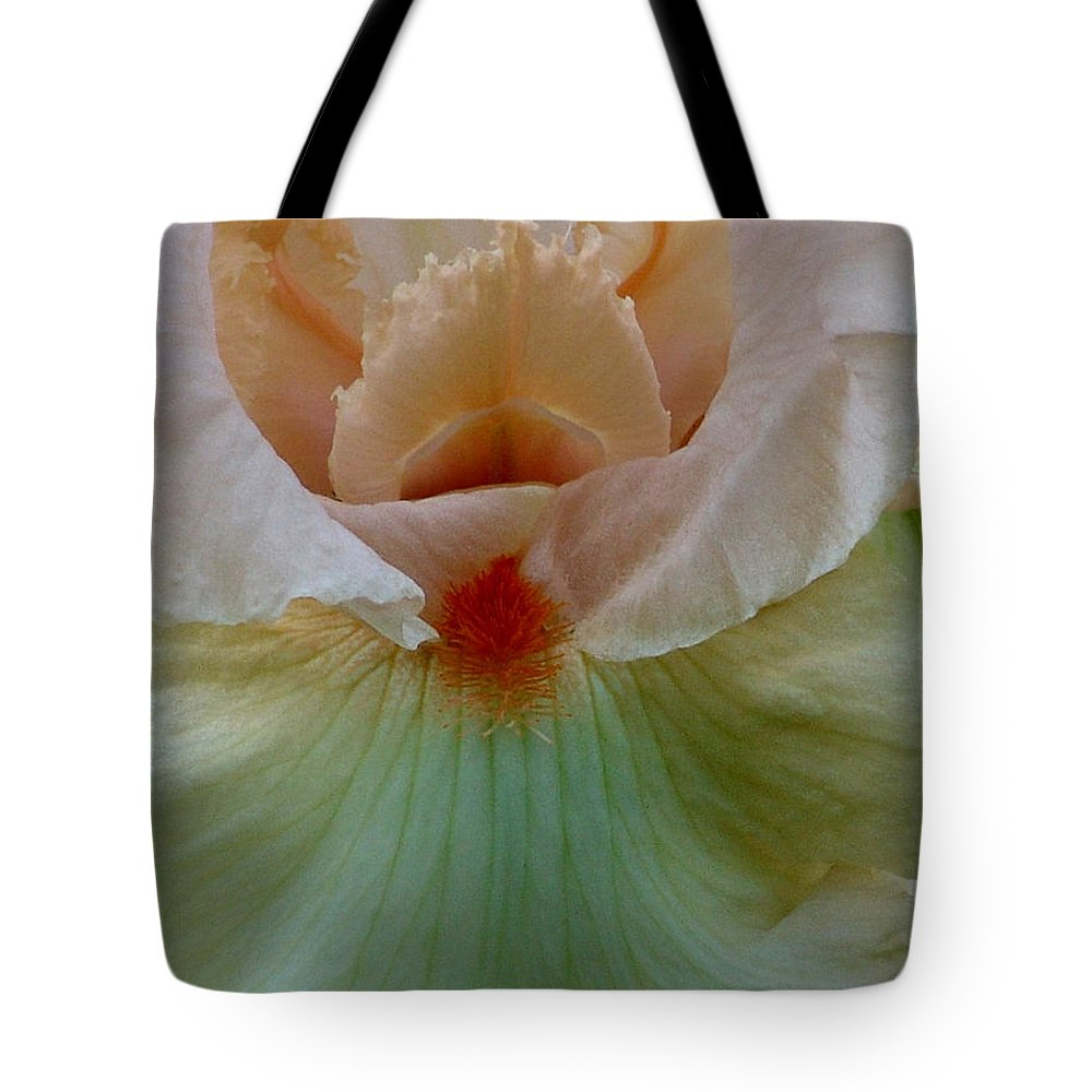 Pink Tote Bag featuring the photograph Pink Iris by David Hohmann
