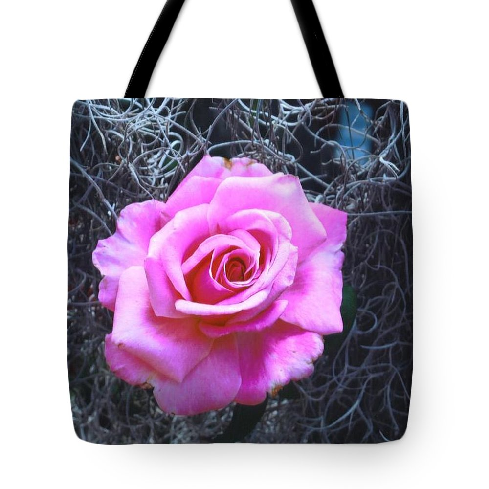 Home Grown Tote Bag featuring the photograph Pink Rose by Robert Floyd