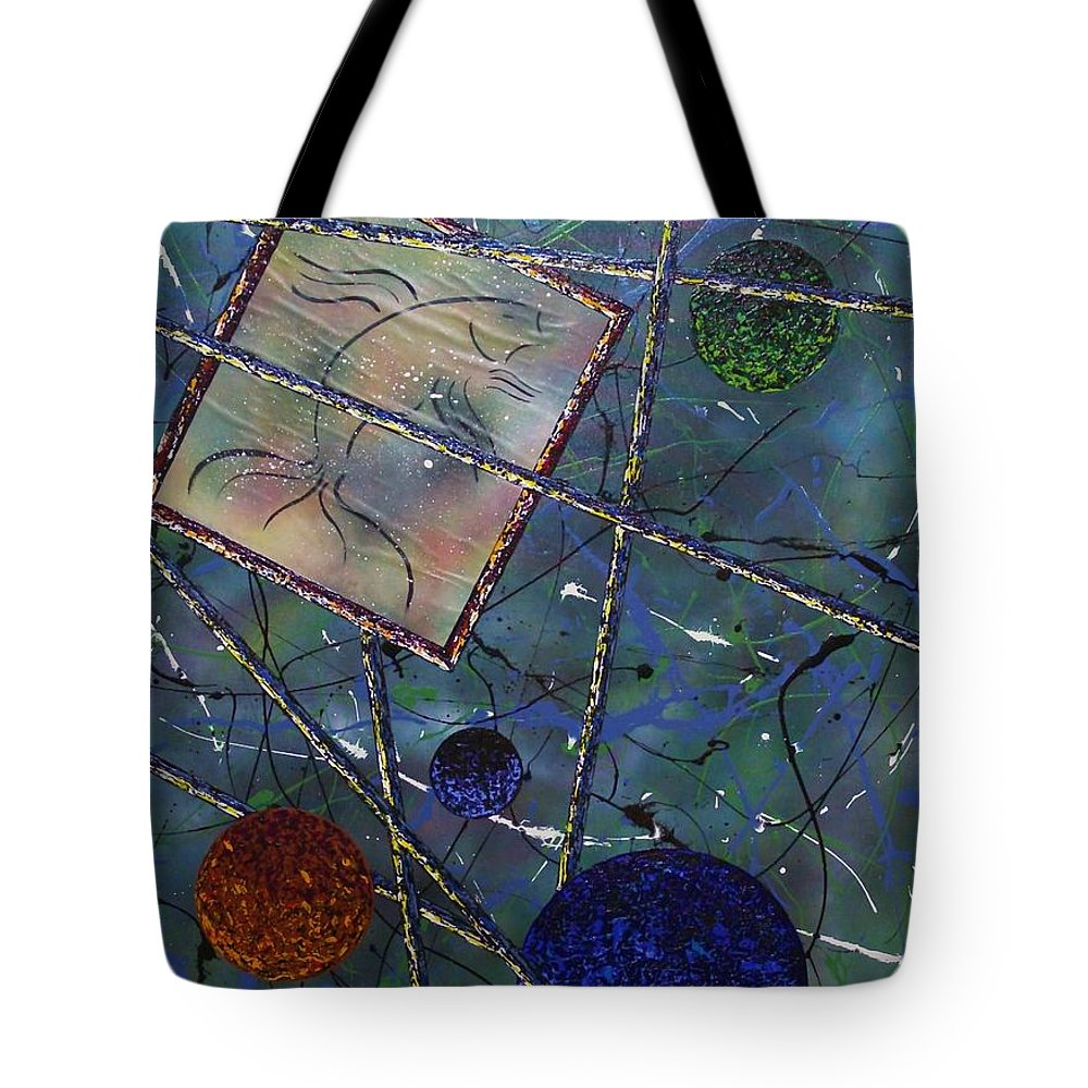 Fish Tote Bag featuring the painting Pisces by Micah Guenther