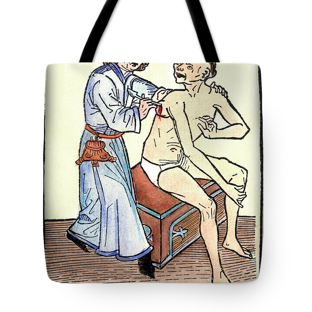 1482 Tote Bag featuring the photograph Plague Physician, 1482 by Granger