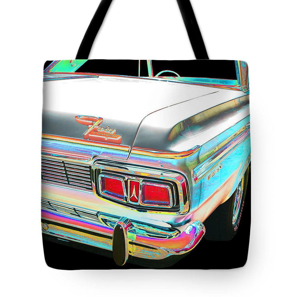 1964 Plymouth Fury Tote Bag featuring the photograph Plymouth by Allan Price