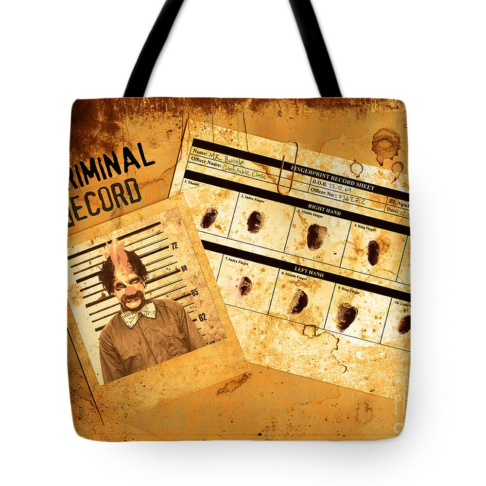 Police Criminal Record File Tote Bag for Sale by Jorgo Photography ...