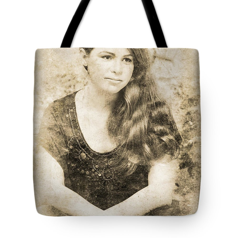 Attractive Tote Bag featuring the photograph Portrait Of A Vintage Lady by Jorgo Photography - Wall Art Gallery