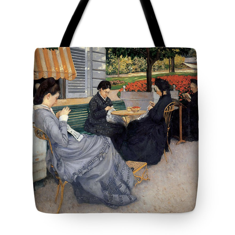 Portraits In The Countryside Tote Bag featuring the painting Portraits In The Countryside by Celestial Images