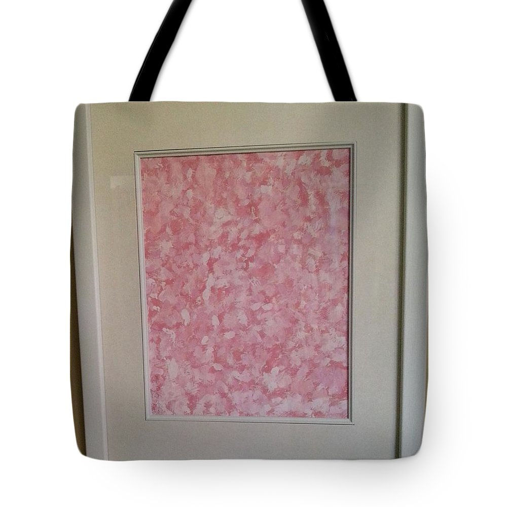 Framed Picture Tote Bag featuring the painting Pretty And Pink by Myrtle Joy