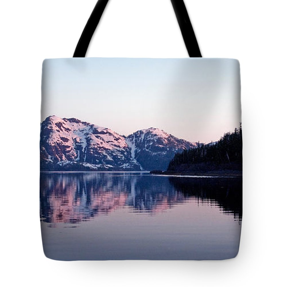 Alaska Tote Bag featuring the photograph Prince William Sound Reflections by Clint Pickarsky
