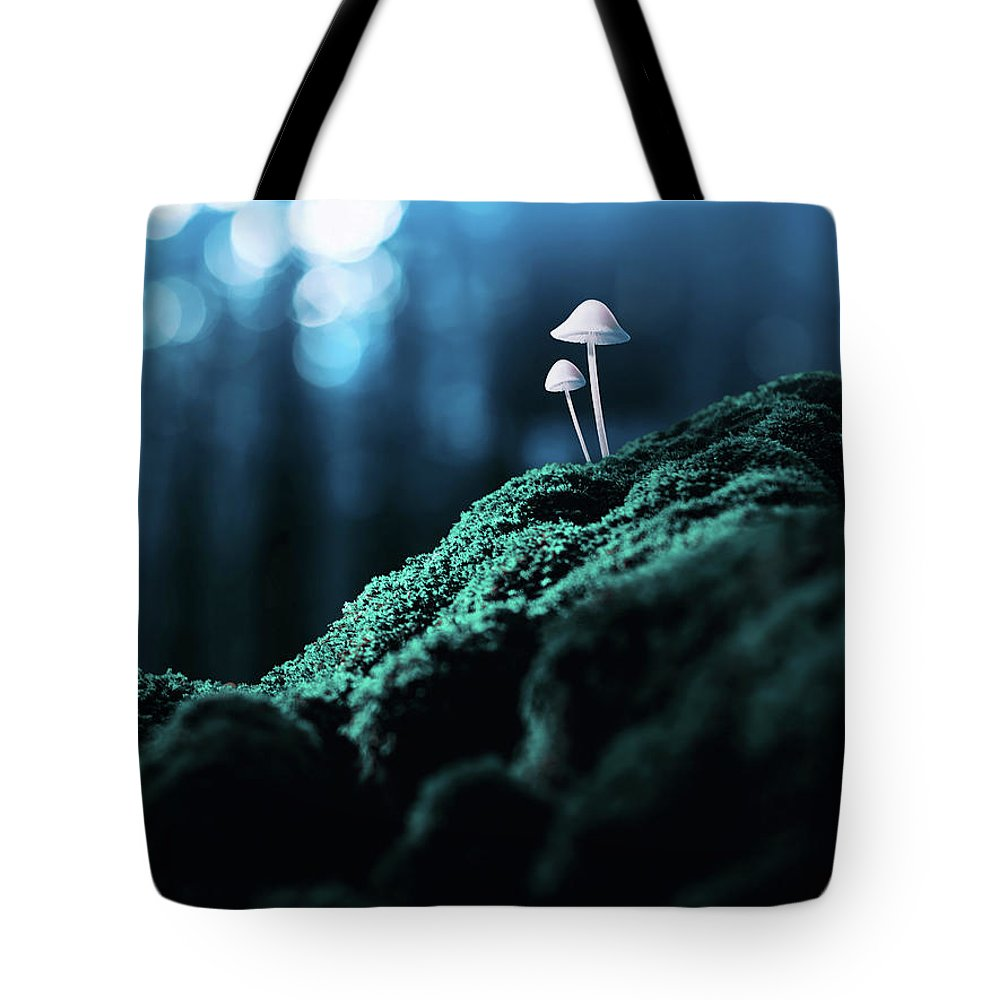 Scenics Tote Bag featuring the photograph Psychedelic Mushrooms by Misha Kaminsky