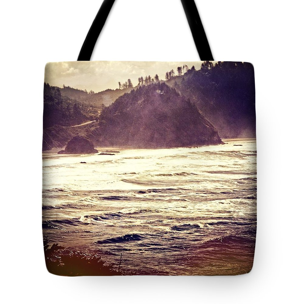 Ocean Tote Bag featuring the photograph Purple Haze by Marty Koch