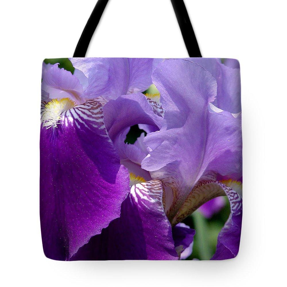 Purple Tote Bag featuring the photograph Purple Iris by David Hohmann