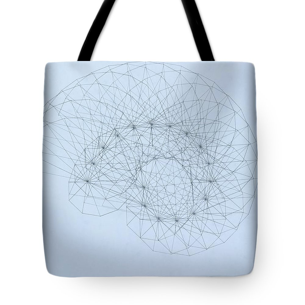 Jason Padgett Tote Bag featuring the drawing Quantum Nautilus by Jason Padgett