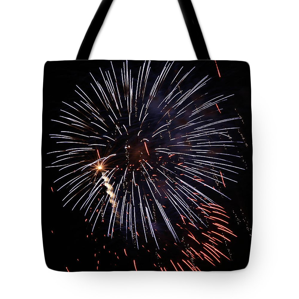 Abstract Tote Bag featuring the photograph Rain by Jack R Perry