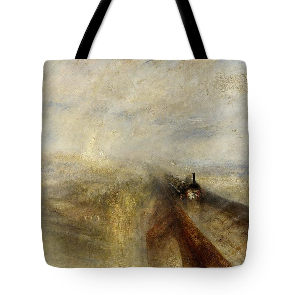 1844 Tote Bag featuring the painting Rain Steam And Speed by JMW Turner