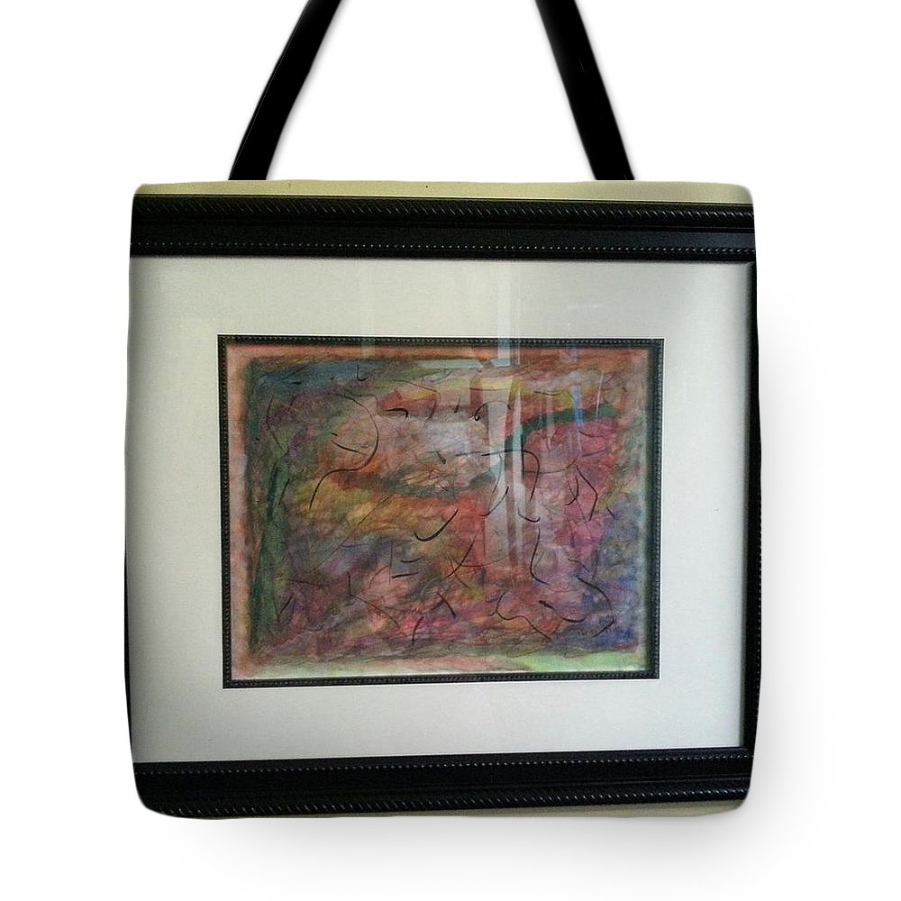 Framed Picture Tote Bag featuring the painting Rainbow Skies by Myrtle Joy