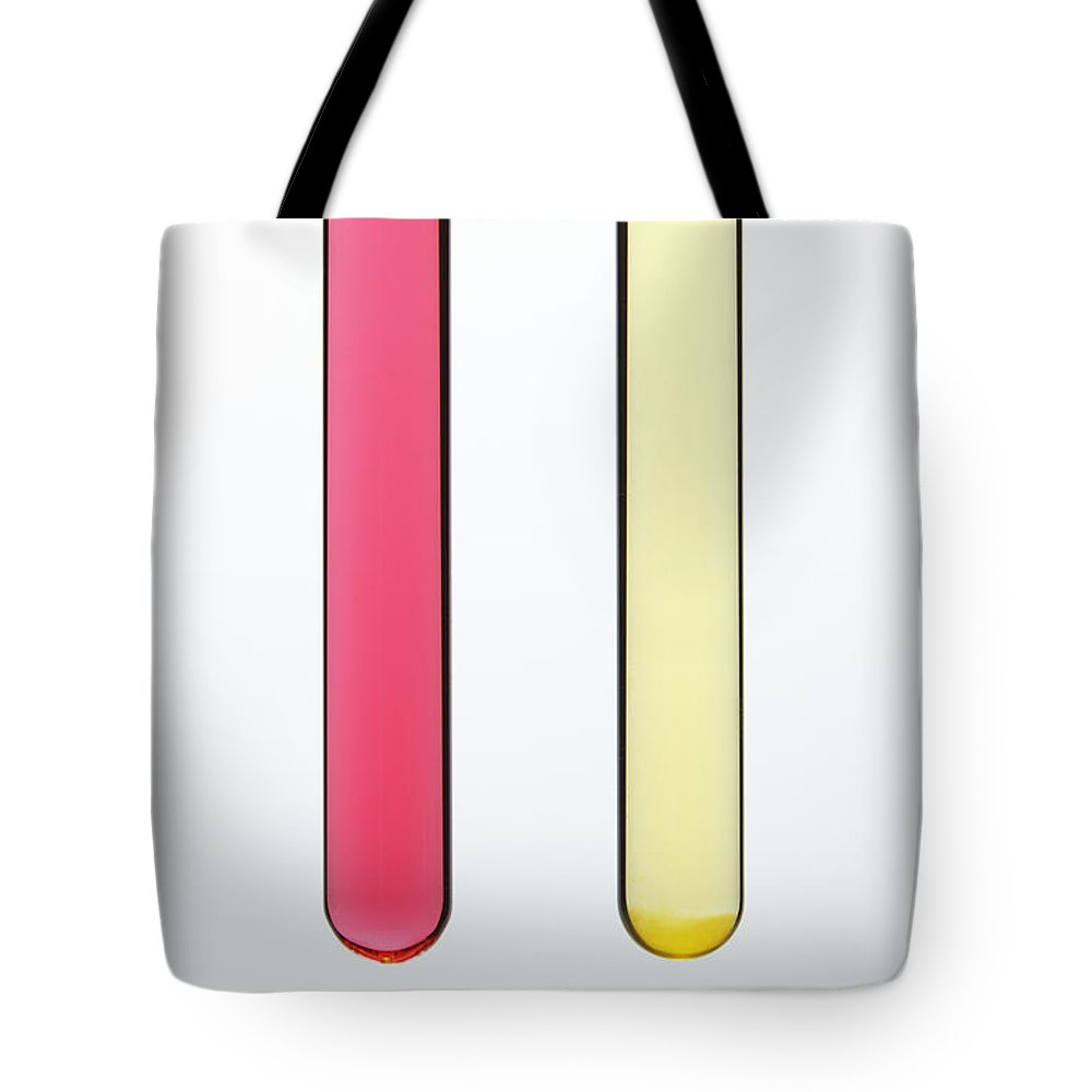 Hcl Tote Bag featuring the photograph Red Cabbage Juice Indicator by GIPhotoStock
