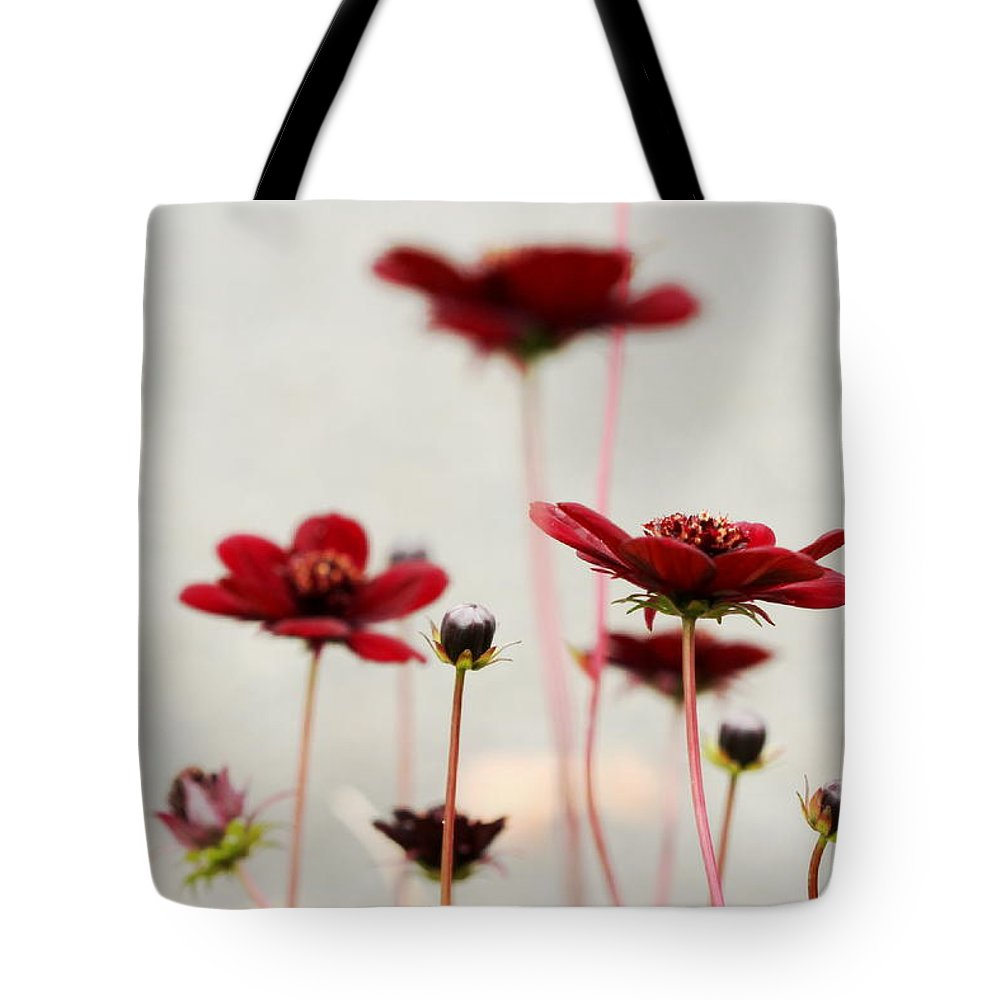Red Flowers Tote Bag featuring the photograph Red by Gunay Turgut