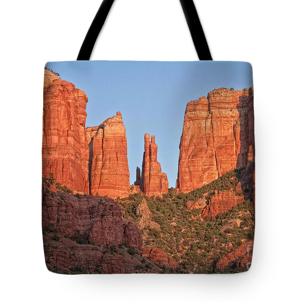 Arizona Tote Bag featuring the photograph Red Rocks by Claudia Kuhn