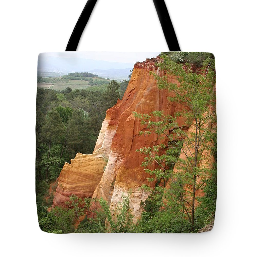 Red Rocks Tote Bag featuring the photograph Red Rocks Of Roussillon by Christiane Schulze Art And Photography