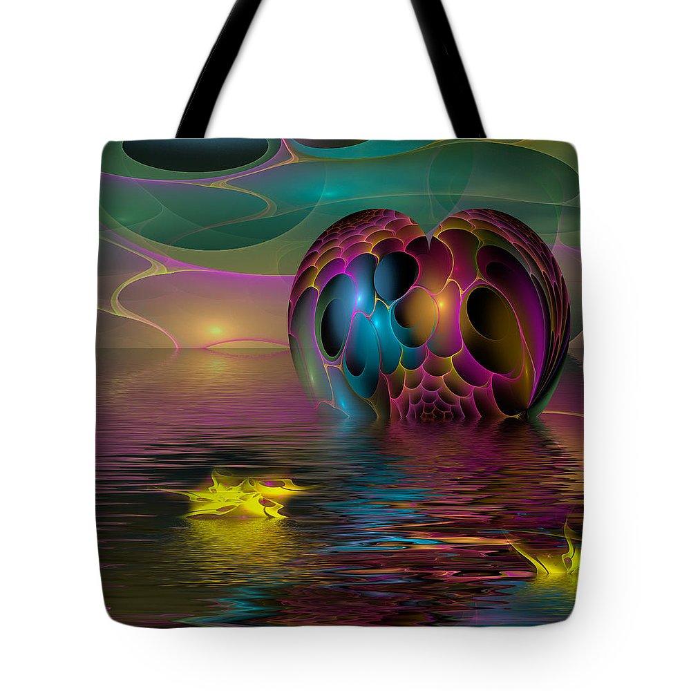 Phil Sadler Tote Bag featuring the digital art Reflections by Phil Sadler