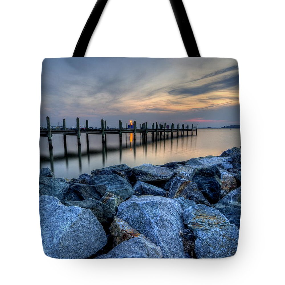 Dewey Beach Tote Bag featuring the photograph Rehoboth Bay Sunset by David Dufresne