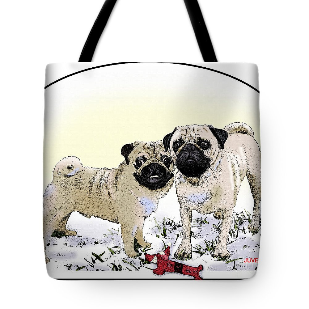 Canvas Prints Tote Bag featuring the drawing Ricky And Curly by Joseph Juvenal