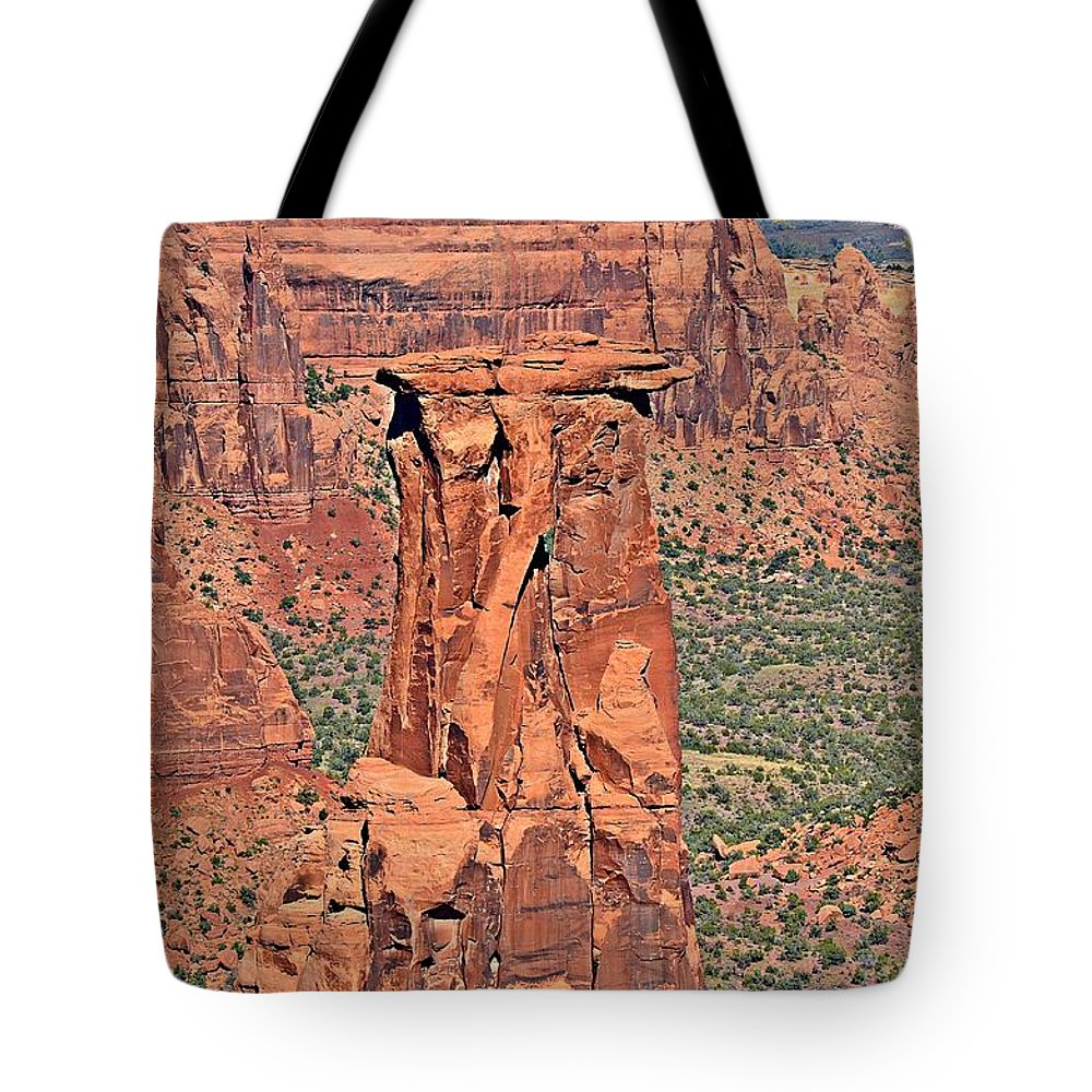 Rim Rock Tote Bag featuring the photograph Rim Rock Colorado by Randy J Heath