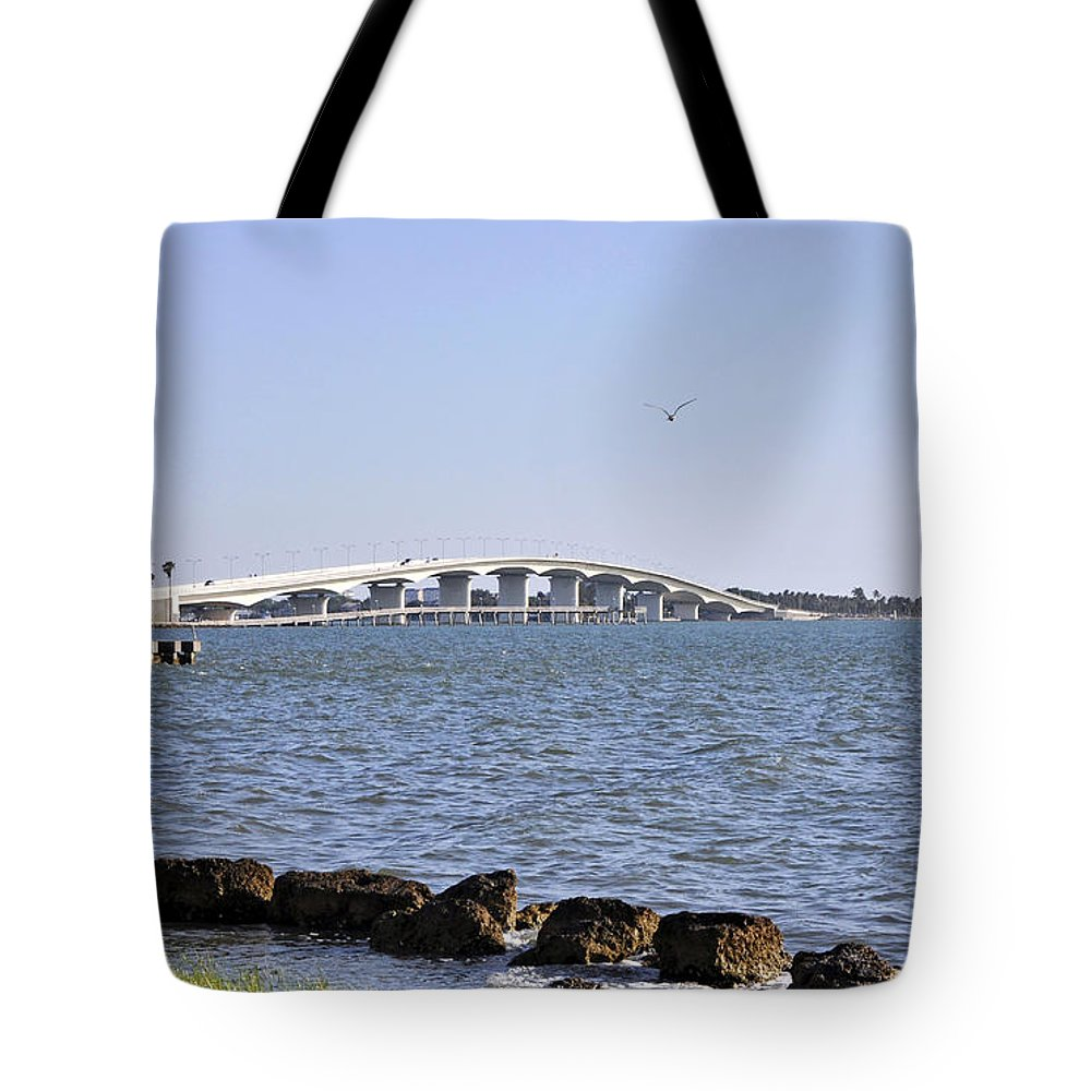 John Tote Bag featuring the photograph Ringling Bridge Late Afternoon Sarasota Florida by Sally Rockefeller