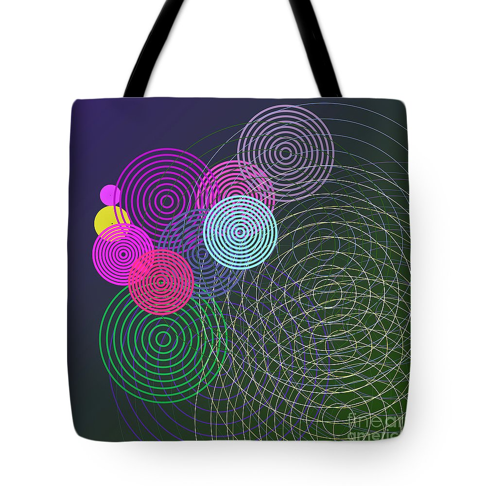 Circles Tote Bag featuring the digital art Ripple Effect by Gaspar Avila