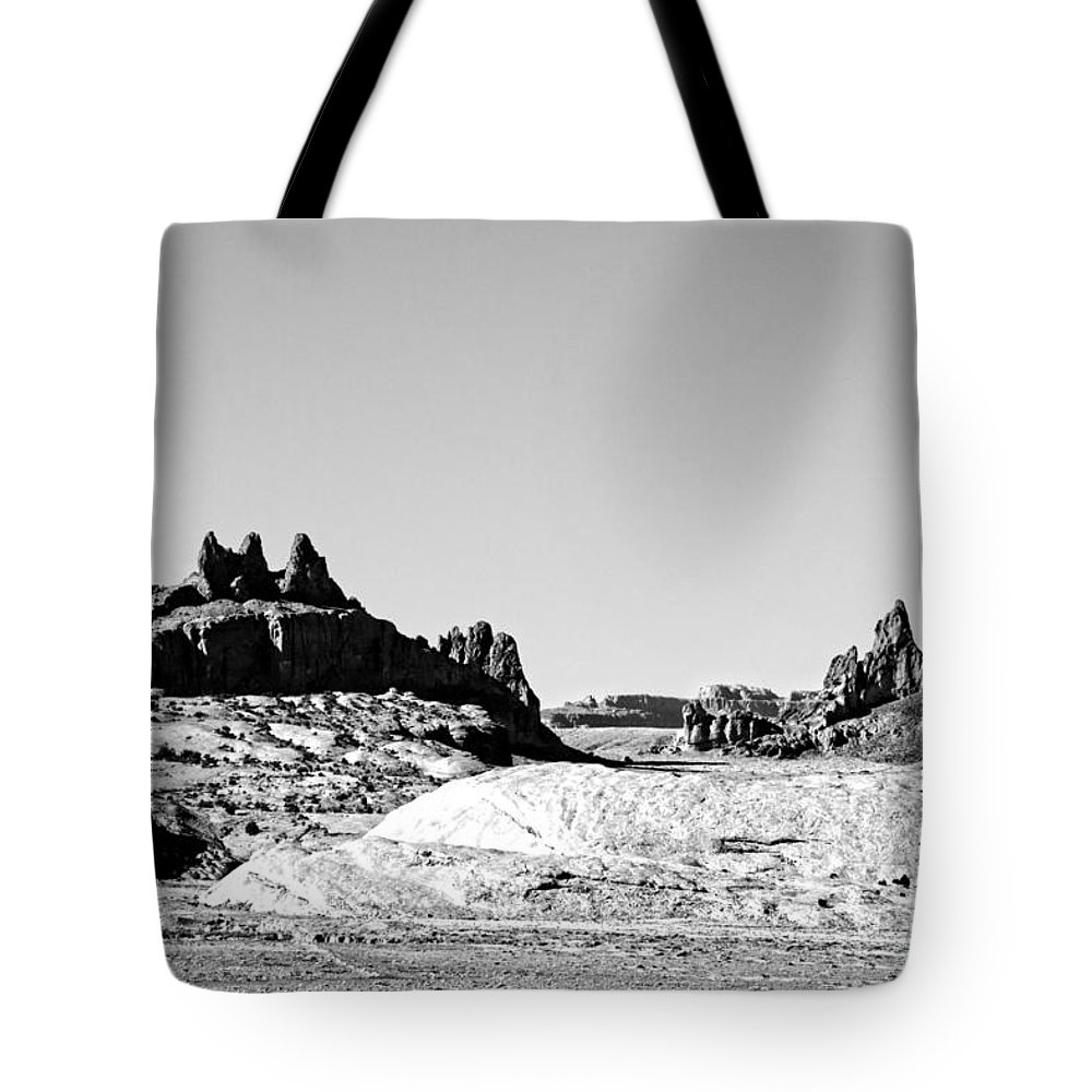 Monument Valley Tote Bag featuring the photograph Rock Formations by Douglas Barnard