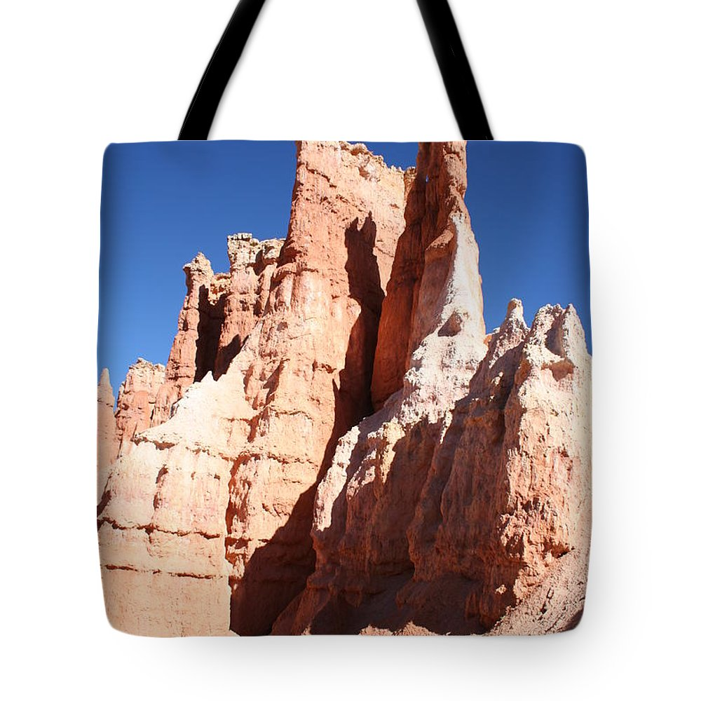 Canyon Tote Bag featuring the photograph Rockformation Bryce Canyon by Christiane Schulze Art And Photography
