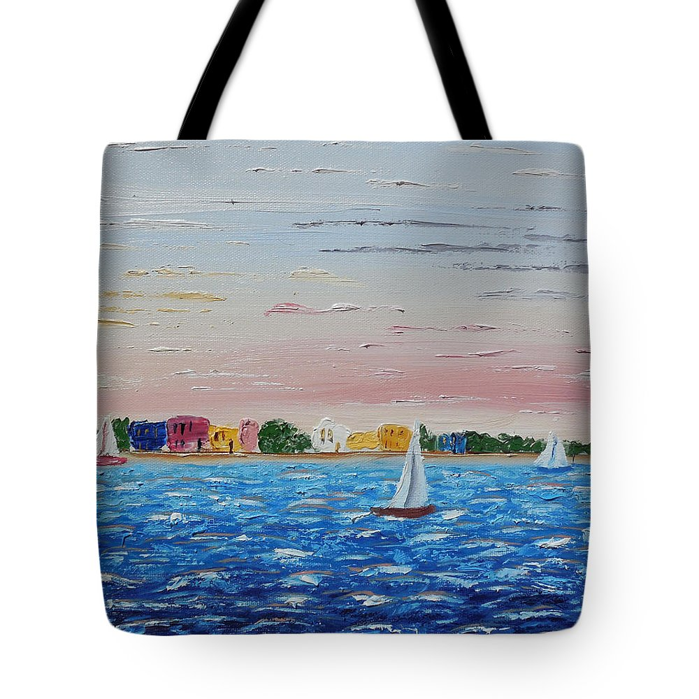 Impressionism Tote Bag featuring the painting Sailing Takes Me Away by Cynthia Kerens