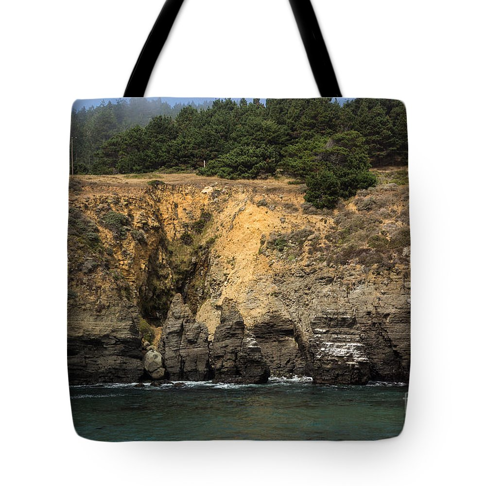 Salt Point State Park Tote Bag featuring the photograph Salt Point Cliffs by Suzanne Luft