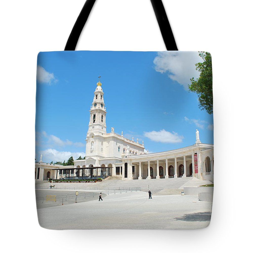 Architecture Tote Bag featuring the photograph Sanctuary Of Fatima by Luis Alvarenga