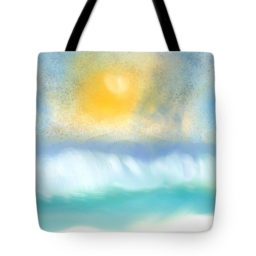 Ocean Tote Bag featuring the digital art Sand by Diane Maley