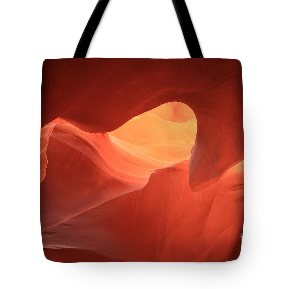 Arizona Slot Canyon Tote Bag featuring the photograph Sandstone Abyss by Adam Jewell