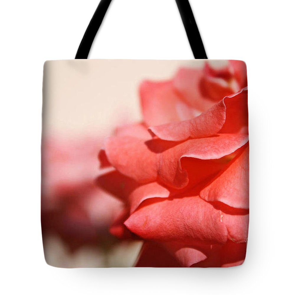 Flower Tote Bag featuring the photograph Scarlet Thread by Irina Davis