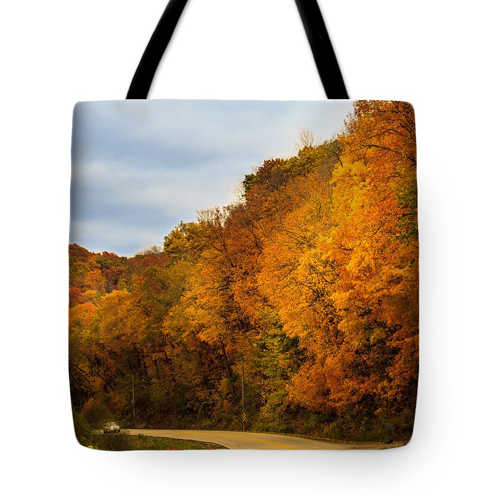 Autumn Tote Bag featuring the photograph Scene Of Gold by Shari Brase-Smith