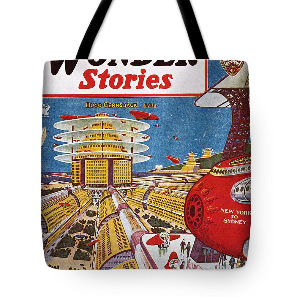 1934 Tote Bag featuring the photograph Science Fiction Cover, 1934 by Granger