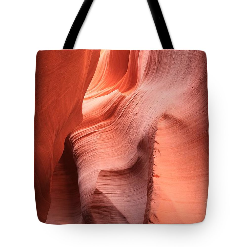 Arizona Slot Canyon Tote Bag featuring the photograph Sea Of Sandstone by Adam Jewell
